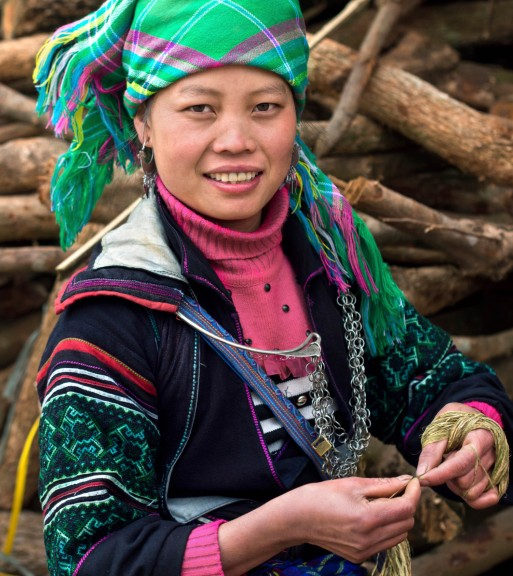 A Flower Hmong woman in northern Vietnam